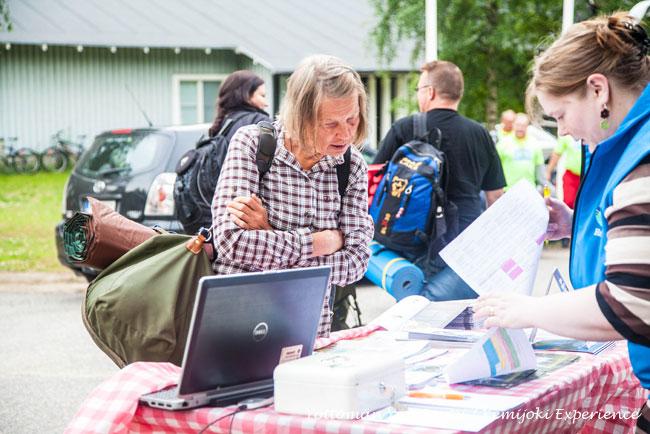 Registration point before departure of Kemijoki Experience