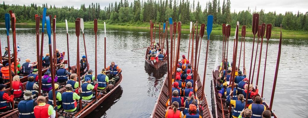 Soutajat valmiina lähtöön Savukoskella. (Kuva: Antti Kurola)